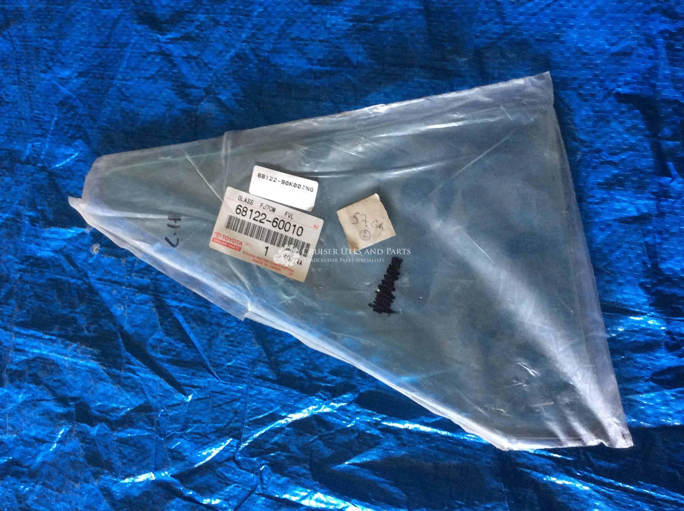 glass only 75,78 quarter glass lh 79# 68122-60010 Landcruiser left side