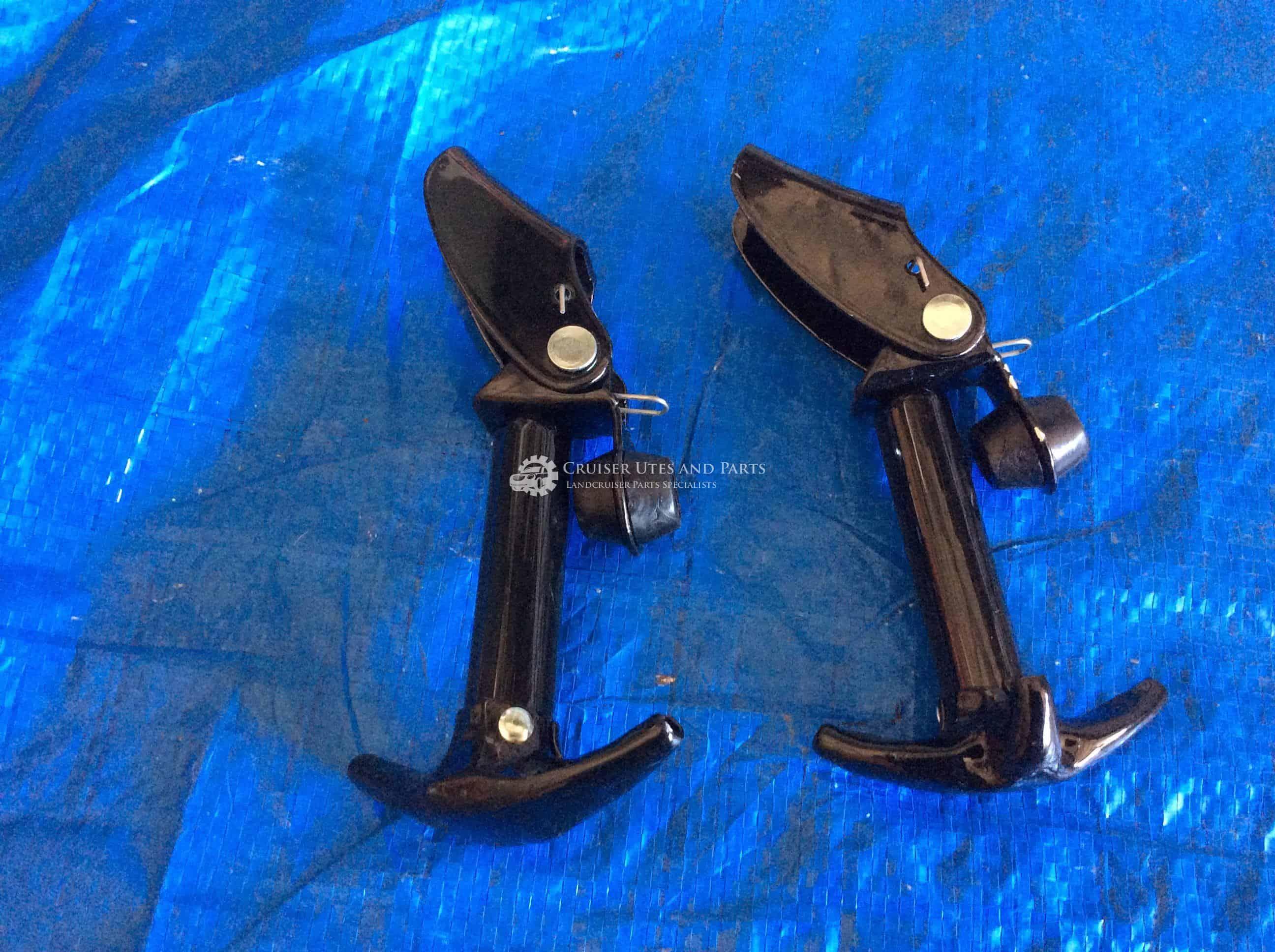 Toyota Landcruiser bonnet lock and hinge pair BJ40, BJ42, FJ40, FJ45, HJ45,  HJ47 Black